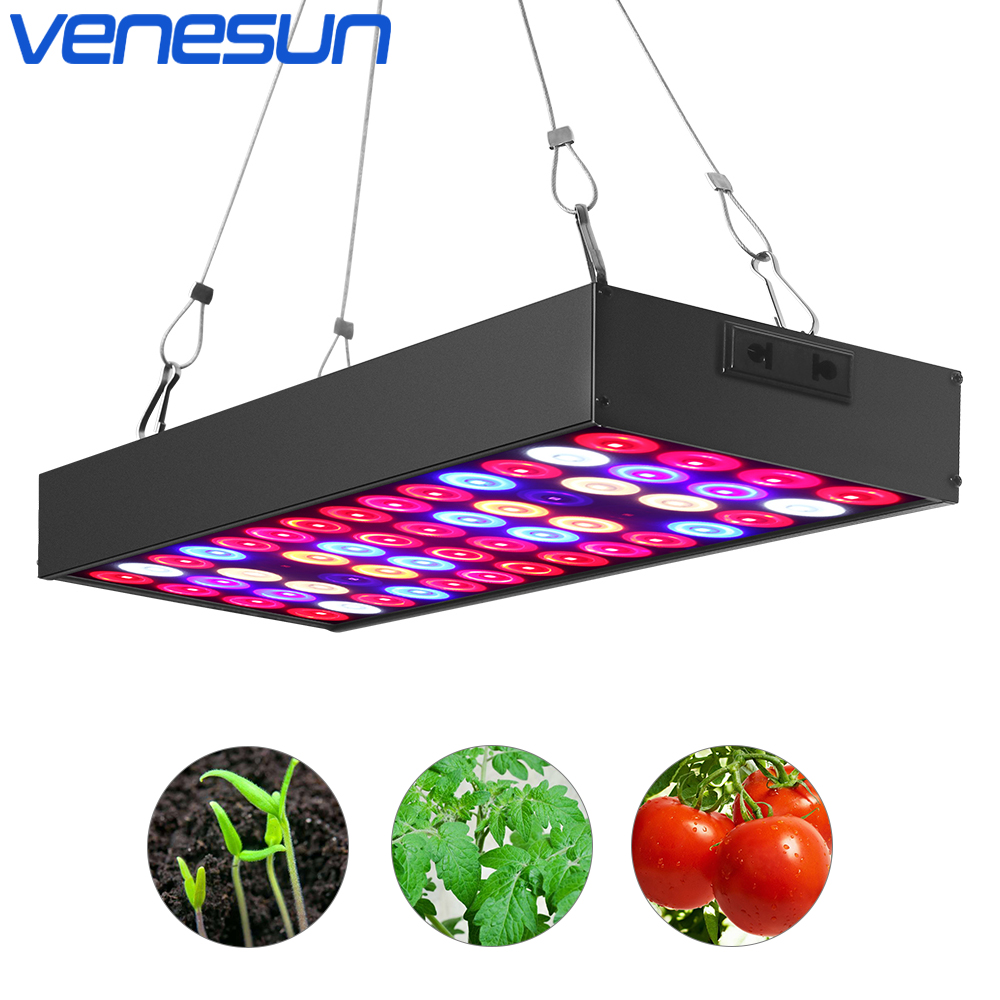LED Grow Light Panel 36W Venesun Full Spectrum with IR & UV Plant Growing Lamps for Indoor Plants Hydroponic Greenhouse full spectrum led grow lights 360w led hydroponic lamp for indoor plants growth vegetable greenhouse plants grow light russian