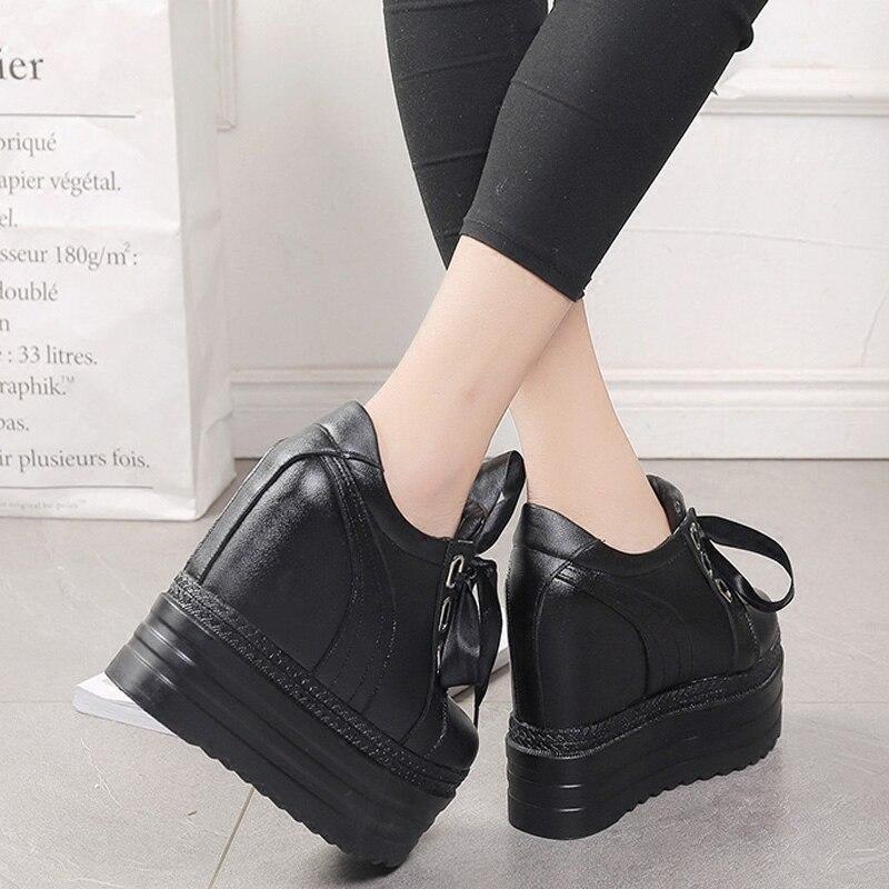 Sauvage Femmes blanc Noir De Casual Talons Super 2018 Respirant Nouveau Chaussures Haute Fond Mode Simples Coréenne Épais Confort pWW4tOq