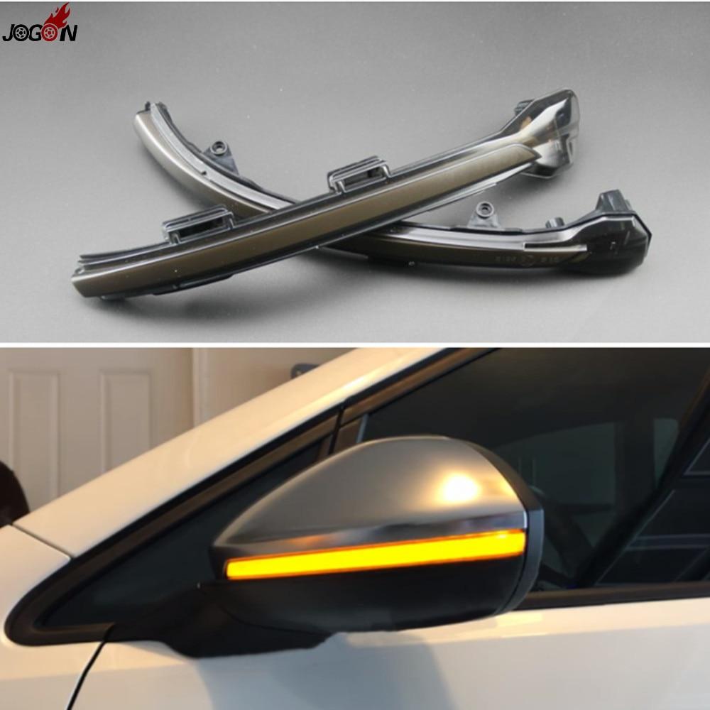 LED Rearview Mirror Indicator Blinker Repeater Light Dynamic Turn Signal Black For VW Volkswagen Golf 7