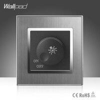 Dimmer Switch Wallpad Luxury 110 250V Brushed Metal UK EU Standard 1 500W Rotray Dimer Dim