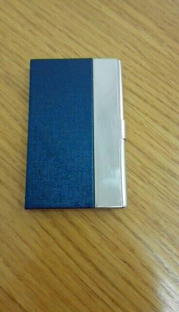 Mode Creditcardhouder Draagbare Slanke Staal Business ID Naam Kaarthouder Metaal Aluminium Munt Verandering RFID Wallet Case photo review