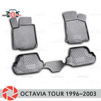 Tapis de sol pour Skoda Octavia Tour 1996 ~ 2003 tapis antidérapant polyuréthane protection contre la saleté accessoires de style de voiture intérieure