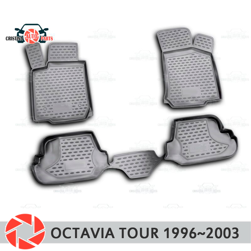 Коврики для Skoda Octavia Tour 1996 ~ 2003 Нескользящие полиуретановые грязеотталкивающие аксессуары для салона автомобиля