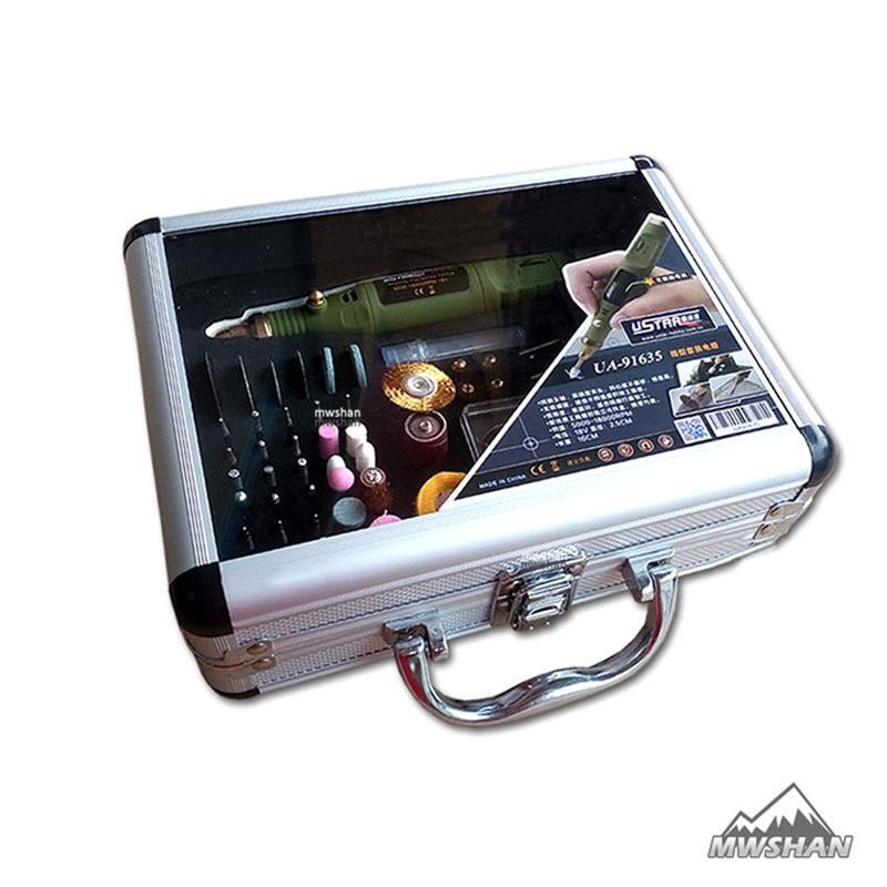 Ustar 91635 Model Special Polishing Tools Set 5000-18000RPM 18V Hobby Suite Accessory DIY