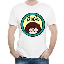 Daria T-shirt Mens 2019 New Arrivals Cute Daria T Shirts Hipster Funny Daria Tee Short Sleeve T Shirts Man Clothing daria skiba nasze jutro
