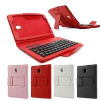 Bluetooth Wireless Keyboard Case for Samsung Galaxy Tab A 8.0 T380 T385 PU Leather Stand Cover Detachable Keypad Protective Case