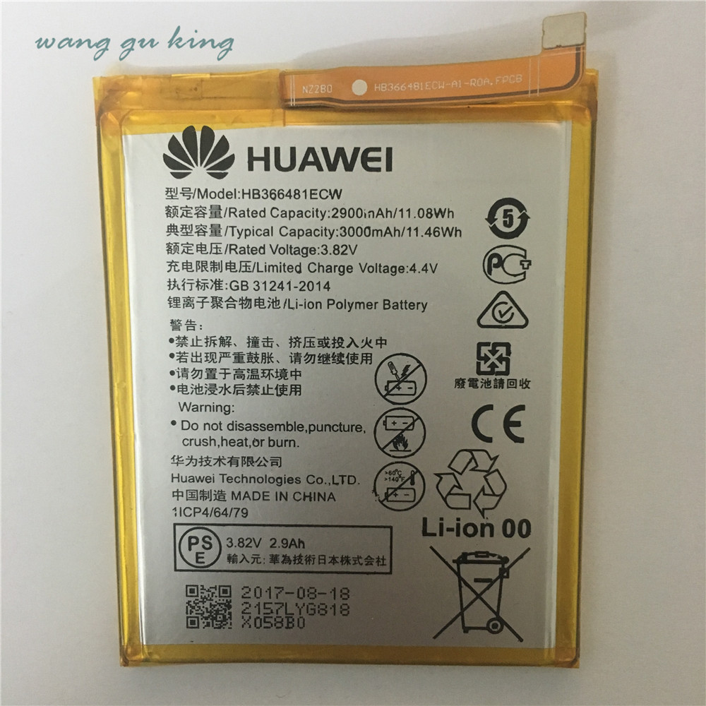 100% original TMIOLOC HB366481ECW Real 3000mAh Battery For Huawei P9 Ascend P9 Lite G9 h ...