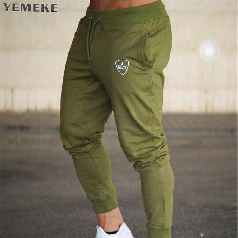 YEMEKE 2018 Frühling Sommer Männer Hosen Casual Hosen Elastische Taille Lose Lange Hosen Mode Männlichen Jogginghose Ladungen Jogger