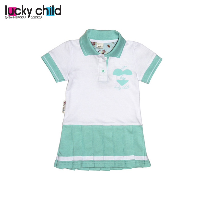 Baby Dresses LUCKY CHILD for girls 40-61 Kid clothes dresses lucky child for girls 50 64 18m dress kids sundress baby clothing children clothes