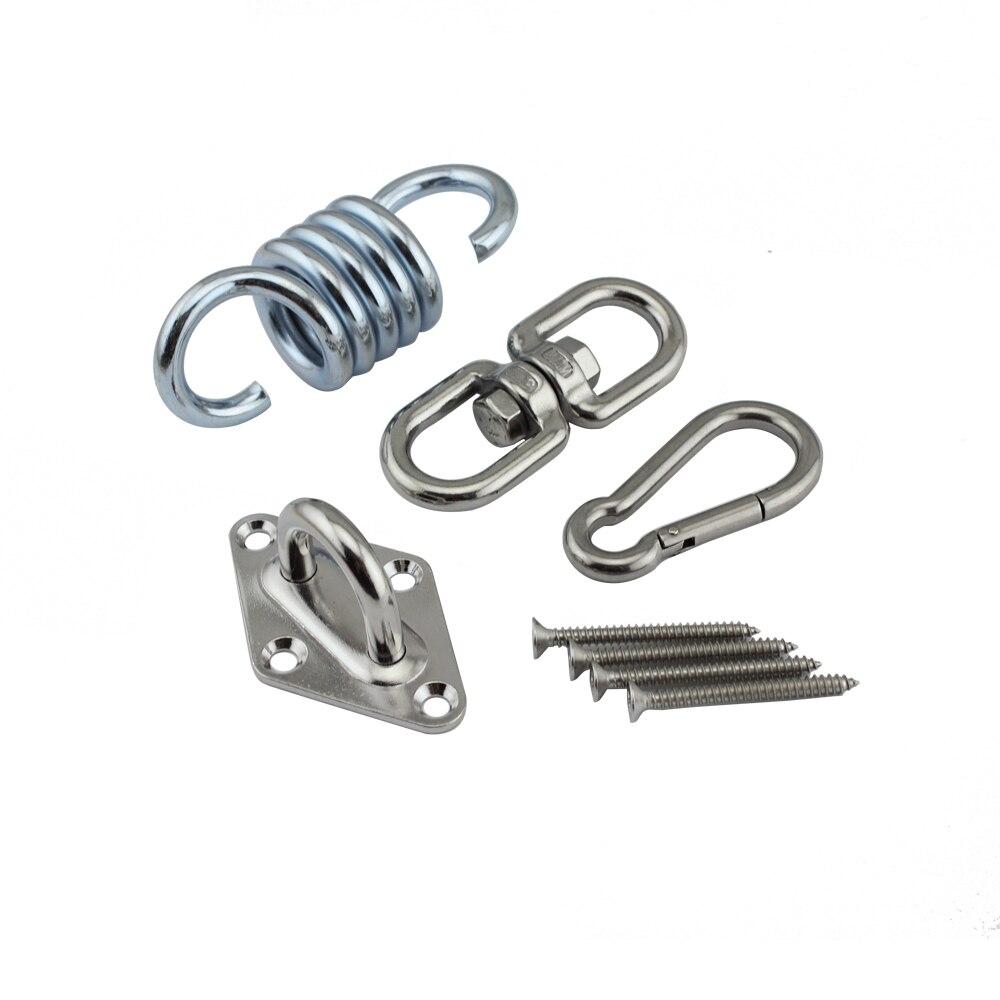 Stainless Hanging Chair Hardware Hammock Hook Ceiling Mount Spring Suspension Swing Hook Kit For Garden Swing Kit