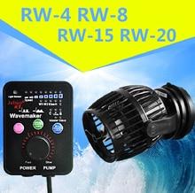 лучшая цена Jebao/Jecod 110~240V RW-4 RW-8 RW-15 RW-20 Coral cylinder pump .Aquarium wave machine Aquarium Flow Pump