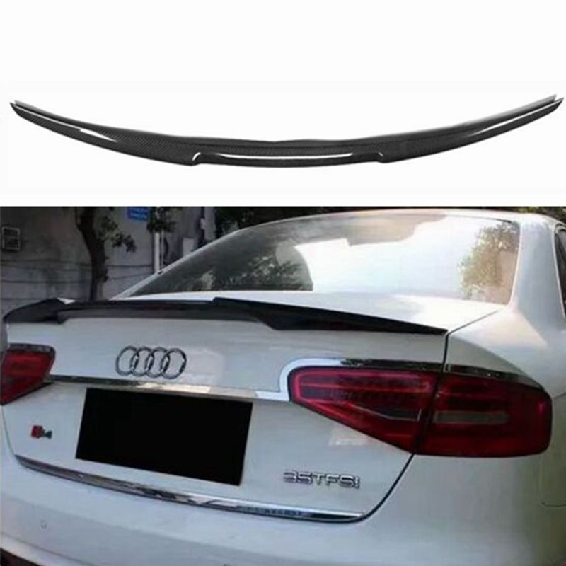 For Audi A4 A4L B8 Limousine 2009 2010 2011 2012 Rear Wing Spoiler, Trunk Boot Wings Spoilers Carbon Fiber For Audi A4 A4L B8 Limousine 2009 2010 2011 2012 Rear Wing Spoiler, Trunk Boot Wings Spoilers Carbon Fiber