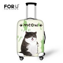 FORUDESIGNS Beschermende Covers voor Koffers Kawaii Cartoon Kat Print Anti-scrach Trolley Case Cover Ontwerp Bagage Accessoires(China)