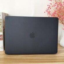 """Черный прорезиненный Жесткий Чехол, кожный набор, чехол для клавиатуры Apple Macbook Pro Air retina Touch Bar 11 12 13 15 1"""" дюймов A2159"""