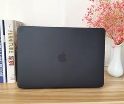 Schwarz Gummierte Harte Fall Abdeckung Haut Set tastatur abdeckung Für Apple Macbook Pro Air Retina 11 12 13 15 zoll Touch Bar A2159 A1989