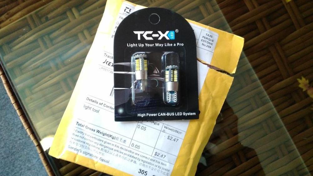 TC-X 2pcs W5W T10 LED Bulb 57 LEDs 3014 SMD EMC CAN-BUS Car Interior Signal Light 12V White Super Bright Door Light Luggage Lamp
