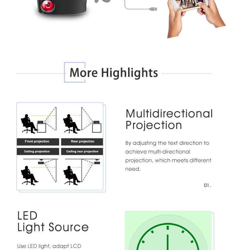 Artlii Проектор Для Футбольный Матч Домашнего Кинотеатра ЖК-Проектор Мультимедиа Для Развлечения Игры Видеопроектор
