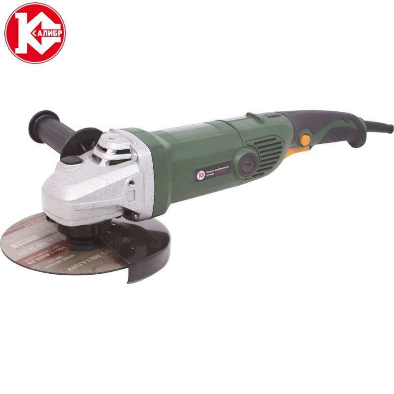 Kalibr MSHU-180/1400 Electric Angle Grinder Household Machine Grinding Cutting Polishing Machine kemei 110v 240v kemei hair trimmer rechargeable electric clipper professional barber hair cutting beard shaving machine electr