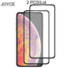 2 Pcs Temper Glass Screen Protector  For iPhone XS MAX XR X 7 8 Plus Protective Tempr Full Cover