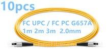 FirstFiber 1 m 2 m 3 m 10 pz/borsa FC PC PER FC/PC FC UPC FC UPC G657A fiber Patch Cable, ponticello, Patch Cord Simplex 2.0mm PVC SM