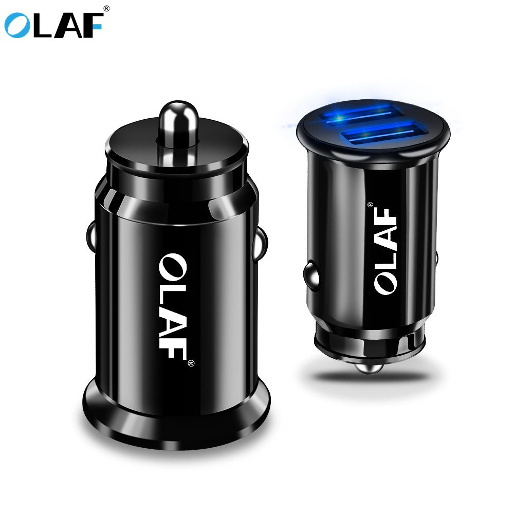OLAF 5V 3.4A LED Dual USB Car Charger For Xiaomi/iphone X/Samsung s9/Huawei/ Car Charger Fast Car Phone Chargers GPS Car-charger