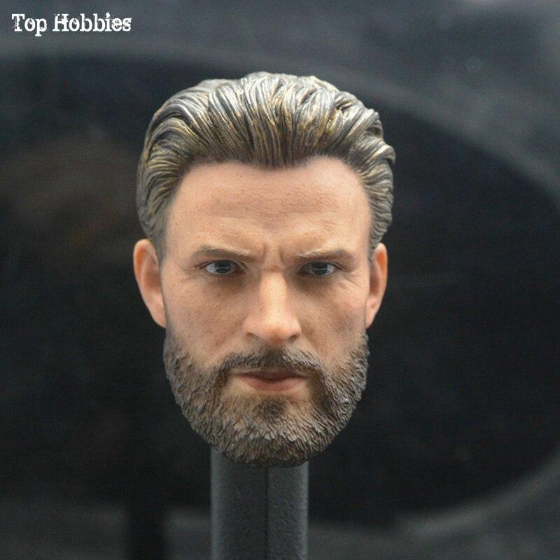 1/6 Schaal Bijlage Mannelijke Head Sculpt T-captain America Chris Evans Bebaarde Model Speelgoed Voor 12 Inches Figuur Lichaam Decadente Versie