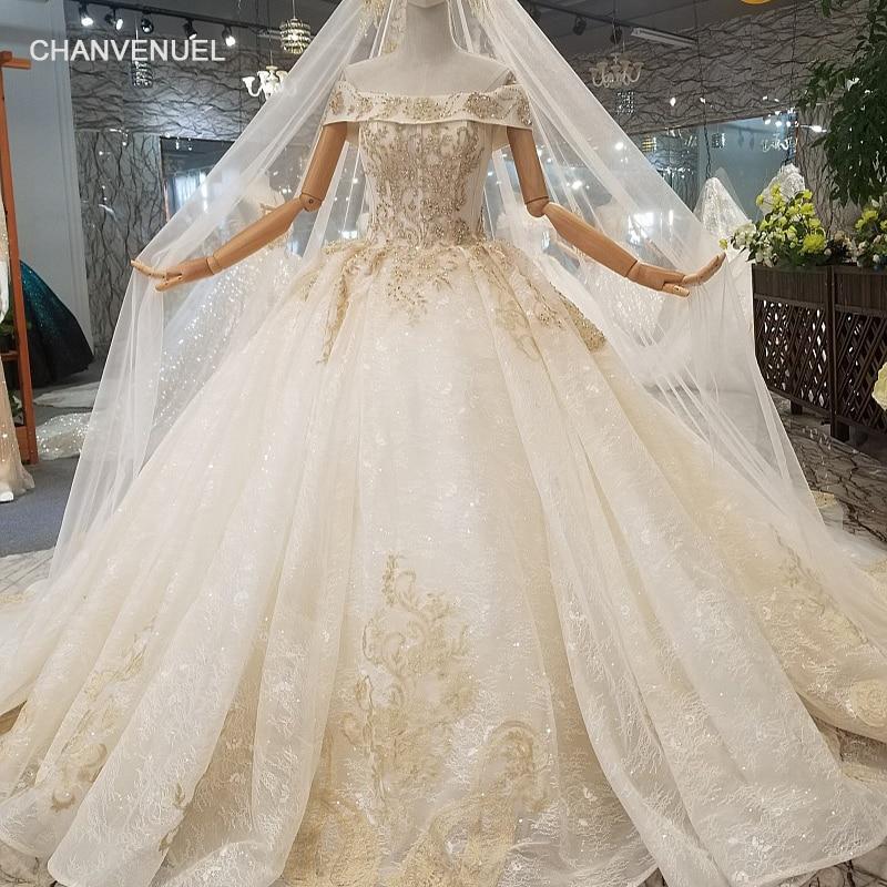 Wedding Gown Veil: LS041678 Wedding Dress With Long Veil Off The Shoulder