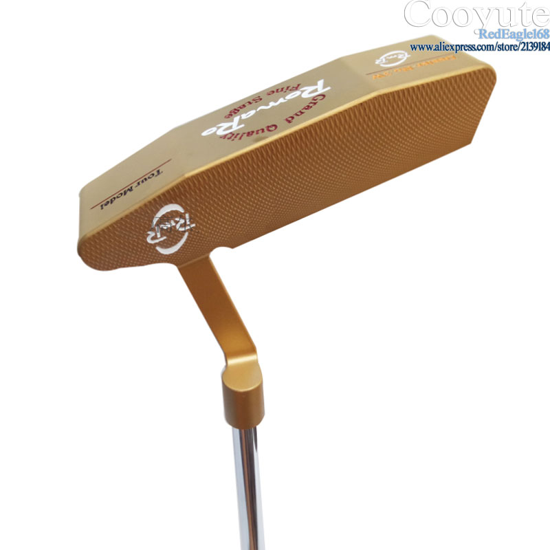 New mens Golf clubs Cooyute ROMARO Tour Mode Gold color Golf Putter and N.S.PRO 950 Steel Golf shaft Clubs Putter Free shipping new golf head romaro alcobaca tour stream forged carbon steel golf wedge head have 50 56 58 deg loft no golf shaft free shipping