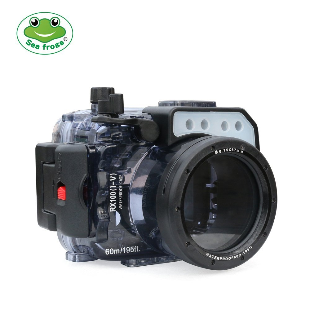 Seafrogs 60m/195ft Underwater Camera Waterproof For Sony RX100 I II III IV V Mark M1 M2 M3 M4 M5