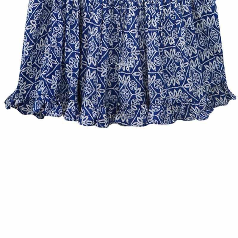 2019 Korte Casual Vrouwen Zomer Jurk Boho Stijl Bloemenprint Chiffon Strand Jurk Tuniek Zonnejurk Losse Mini Party Dress Vestidos