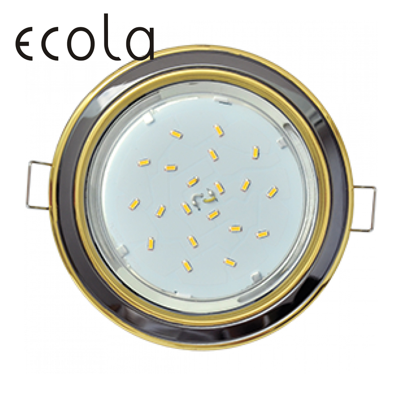 Ecola GX53-H4 Dual Color slim Recessed Ceiling Downlight Round Spotlight Hole Spot lamp GX53 Sockets 36x106mm jtron 10050100w round hole ndfeb magnet silver 2 pcs