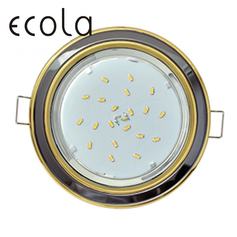 Ecola GX53-H4 Dual Color slim Recessed Ceiling Downlight Round Spotlight Hole Spot lamp GX53 Sockets 36x106mm цены