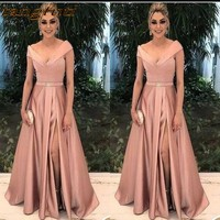 Elegant Mother of the Bride Dresses for Weddings Party Gowns A Line Satin Pleat Formal Godmother Groom Long Dress Wear