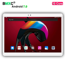 "2017 Newest Android 7.0 Deca Core 10"" Tablet PC 4GB RAM 128/64GB ROM 1920*1200 8MP WIFI GPS 4G LTE tablets DHL free shipping"