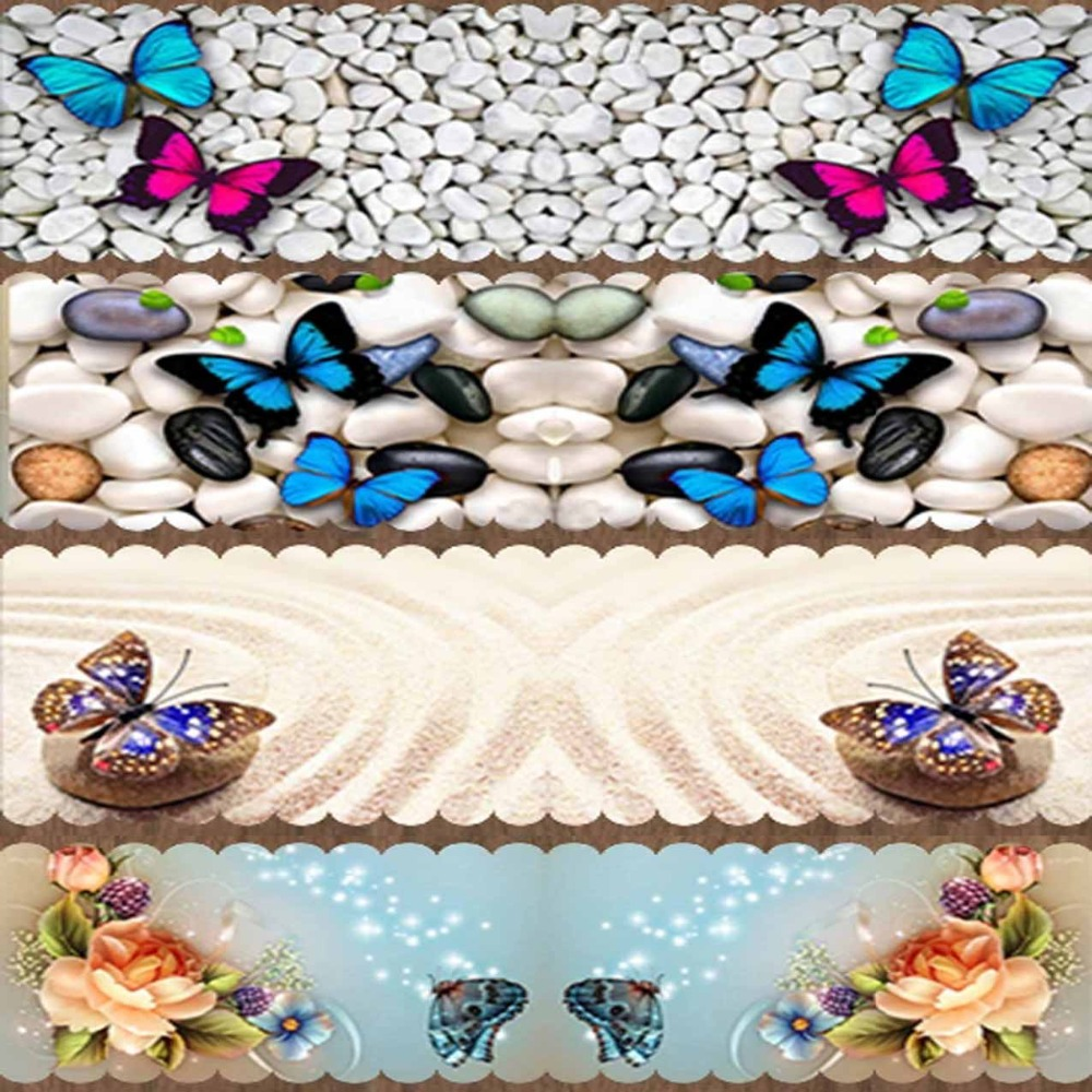 Else Pink Blue Butterfly Stone For Modern Table Cloth Runner Home Decorations For Kitchen Dining Room Wedding Birthday 40X140CM
