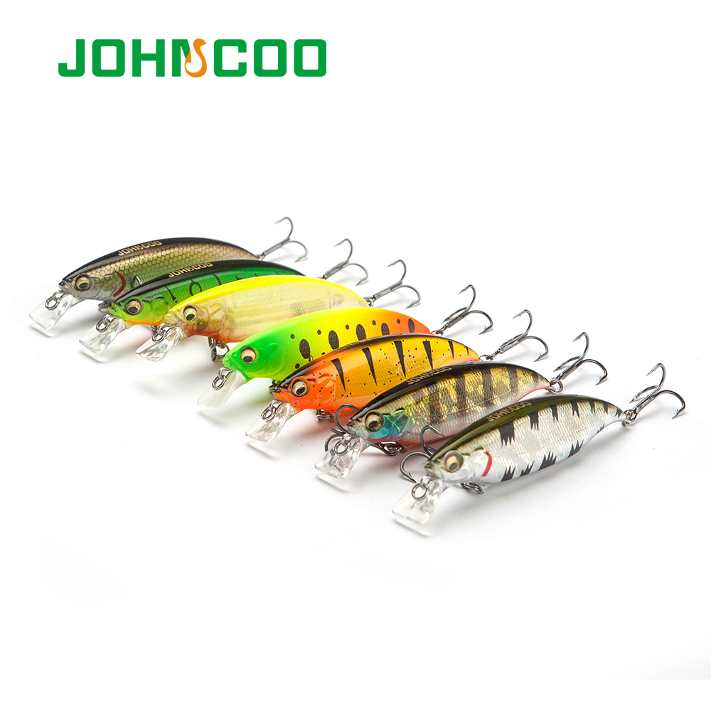 JOHNCOO Wobbler Hard Fishing Lure 80mm 10.5g Floating Minnow Artificial Bait Bass Lure Swimbait Wobblers Crank magnetic casting