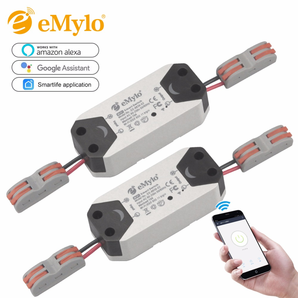 EMoly 1CH Wifi Schalter Relais Modul AC90V-250V 220V Drahtlose Licht Relais Breaker Timer Schalter Für Smart Home Automation