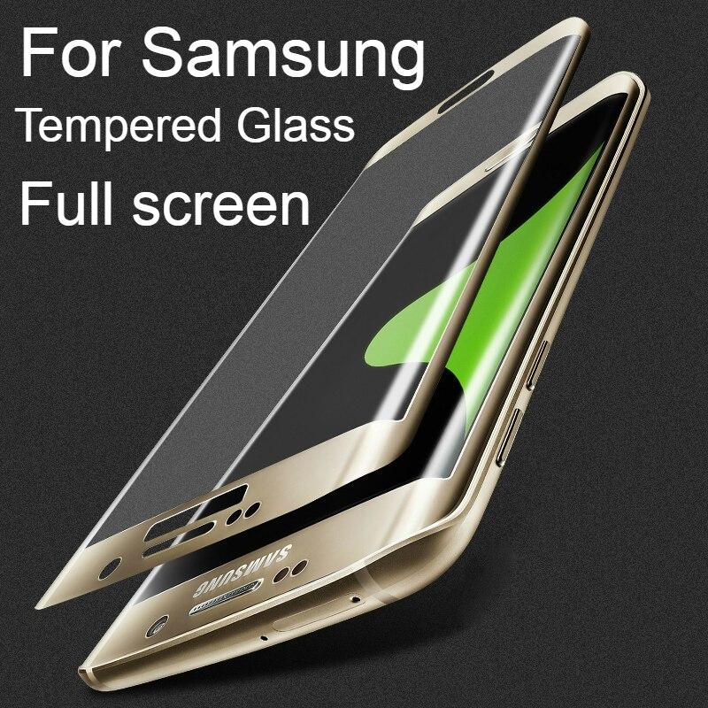<font><b>Screen</b></font> Protection For Samsung Galaxy S8 Plus <font><b>Full</b></font> <font><b>cover</b></font> 3D <font><b>Arc</b></font> <font><b>Tempered</b></font> <font><b>Glass</b></font> For Galaxy S6 S7 Edge Plus Protective <font><b>Glass</b></font> Film