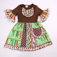 Spring And Autumn Dress 100 Percent Cotton With Belt Infants And Children Fashion Clothing For