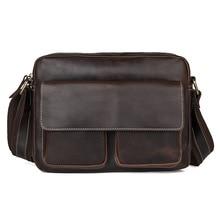 Купить с кэшбэком  Genuine Leather Shoulder  Bag Casual Men Handbags Cowhide Men Crossbody Bag Men's Travel Bags Laptop Briefcase Bags for Man