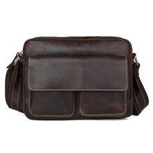 Genuine Leather Shoulder  Bag Casual Men Handbags Cowhide Men Crossbody Bag Men's Travel Bags Laptop Briefcase Bags for Man
