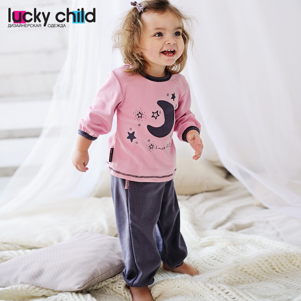Pajama Sets Lucky Child for girls 12-401 (3T-8T) Children clothes kids clothes pajama sets lucky child for boys 13 403 3t 8t children clothes kids clothes