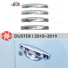 Дверные ручки крышки для Renault Duster 2010 ~ 2019 нержавеющая сталь пластина для украшения автомобиля аксессуары для украшения литья