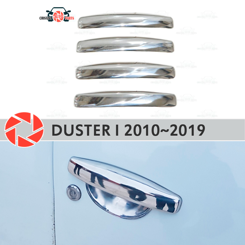Door handle covers for Renault Duster 2010~2019 stainless steel plate car styling decoration accessories molding