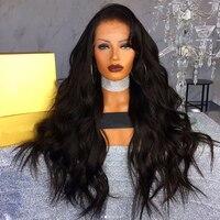 Свободная волна синтетические волосы на кружеве натуральные волосы Искусственные парики 13x6 250 Плотность перуанский Remy натуральные волосы