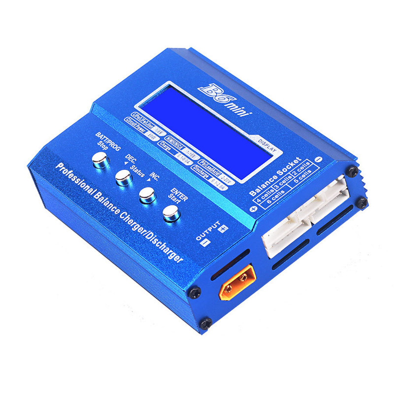 B6 Mini 80W Digital DC Battery Balance Charger XT60 Plug For Li-Po Batteries Li-ion LiPo LiFe Ni-Cd NiMH RC Toys Models Accs 1s 2s 3s 4s 5s 6s 7s 8s lipo battery balance connector for rc model battery esc