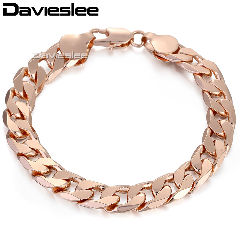 Aliexpress.com : Buy Mens Chain 10/12mm Rose Gold Filled