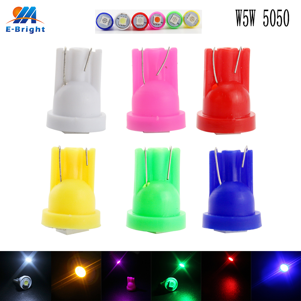 500pcs/lot T10 194 168 192 W5W 5050 1 SMD Led Bulbs Cars Reading Luggage Compartment Instrument Door Lights 12V-in Signal Lamp from Automobiles & Motorcycles    1