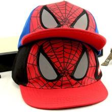 Fashion Boy Children Baseball Caps 2 Colors Cartoon Anime Spiderman Hip Hop Hats Sun Hat Outdoor Shade Cap Wholesale