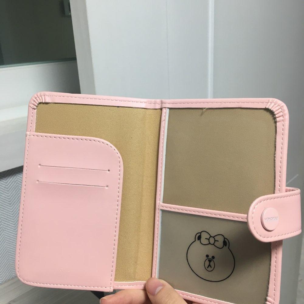 2019 nieuwe baby beer gesp cartoon kaarthouder lange reizen paspoort pakket certificaat set map cover tas lederen kaart portemonnee photo review
